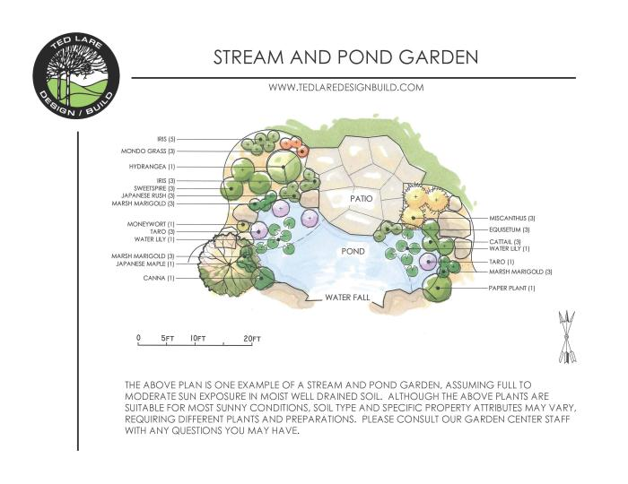 Steam and Pond Garden Design by Ted Lare