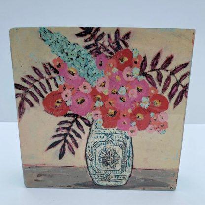 Flower Vase Wood Block