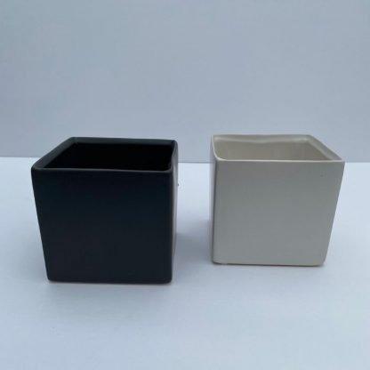 Cube Colored Cashe Pot
