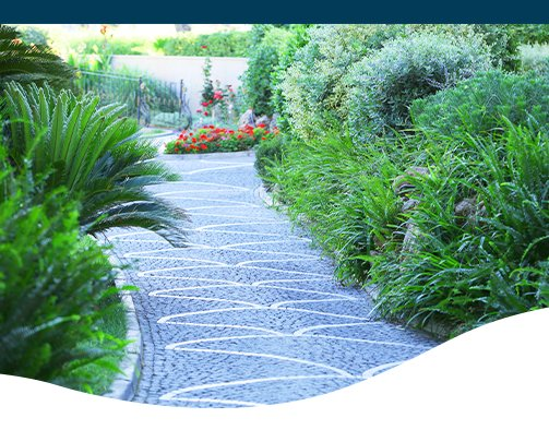 stone walkway Ted lare design and build