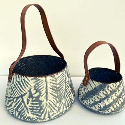 White Wash Langford Basket