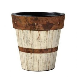 "Whitewash Wood 12"" Pot"