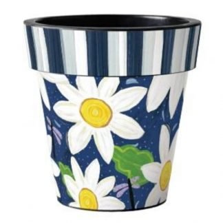 "Daisy Garden Blues 12"" Art Pot"
