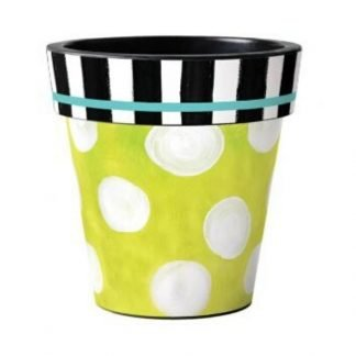 "Folk Garden Dots 12"" Art Pot"