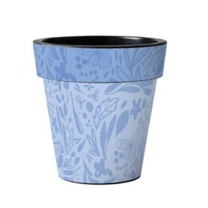 "Blue Pattern 12"" Art Pot"