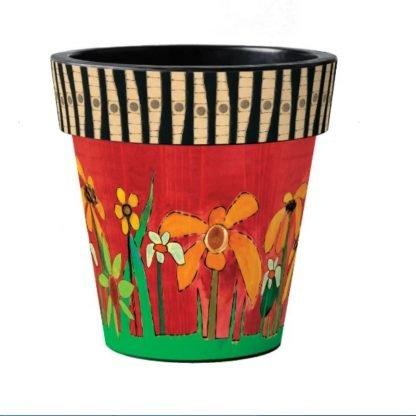 """Daisy Garden 18"""" Art Pot"""