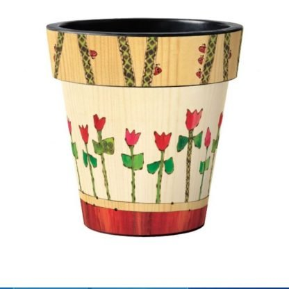 "Tulip Garden 18"" Art Pot"