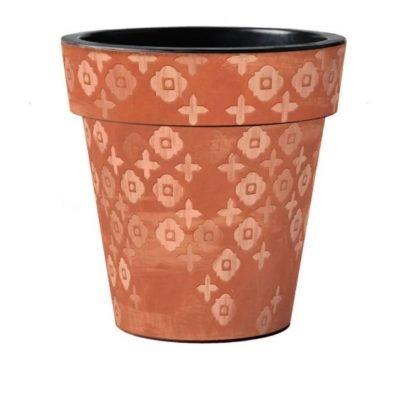 "Terra Flora Pattern 18"" Pot"