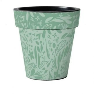 Green Pattern Pot