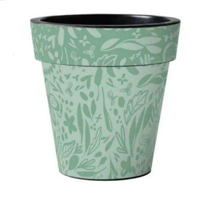 Green Pattern Pot