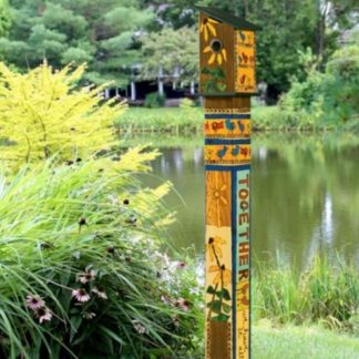 Friends Forever ' Birdhouse Art Pole