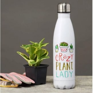 Crazy Plant Lady Insulated Water Bottle