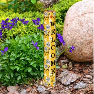 "Farm Charm Yellow 16"" Mini Art Pole"