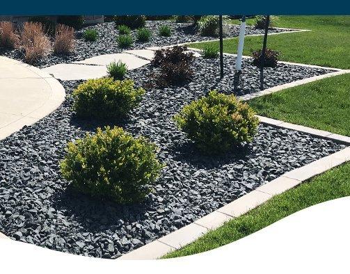 stone mulched garden ted lare design & build