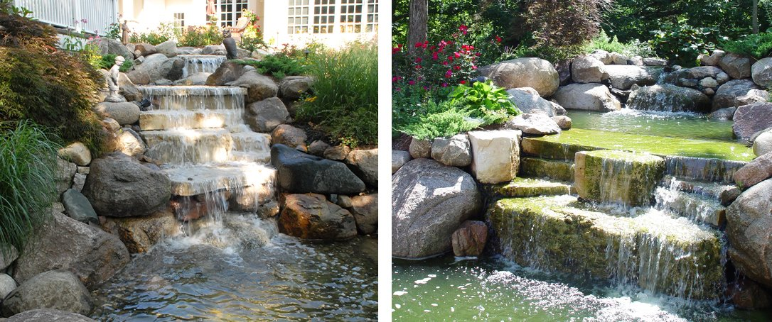 Ted Lare water feature sloped landscape