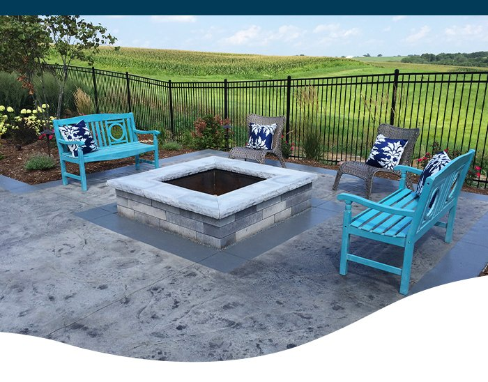 landscape solutions fire pit Ted Lare