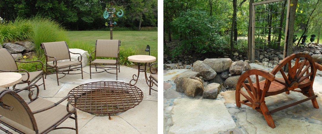 backyard fire pit Ted Lare