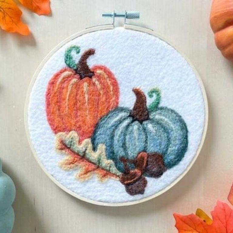 Felted Pumpkin Workshop 10/17/21 1pm