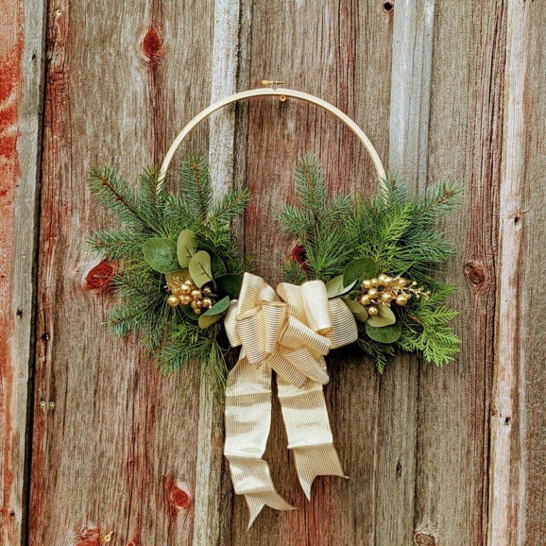 Embroidery Hoop Holiday Door Hanger Workshop 11/27/21 9am
